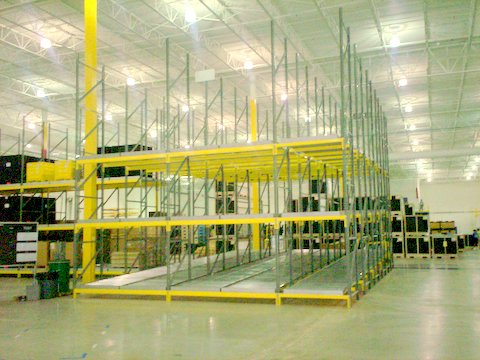 Flow Lanes in Pallet Rack, 10-Deep