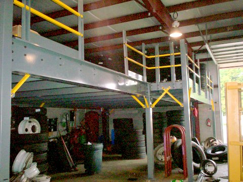 Heavy Duty Mezzanine with Workshop Below
