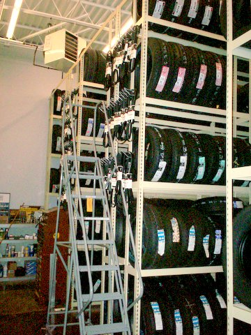 Automotive Tire Storage, 5 Levels High