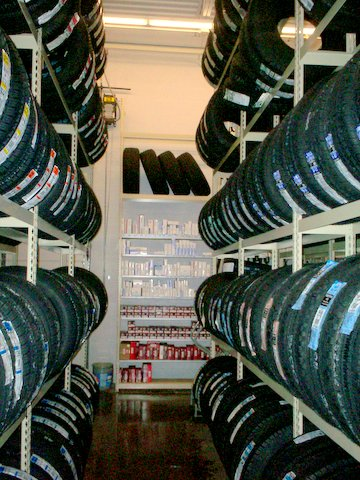 Automotive Tire and Parts Storage