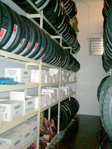 Parts Storage integrated Auto Tires