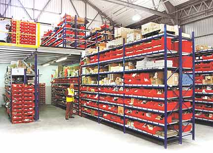 Heavy Duty Shelving and Container Bins For Stockroom